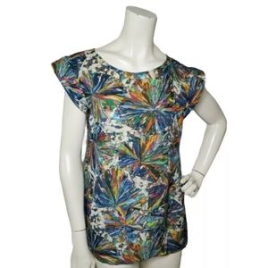 Anthropologie Beth Bowley Silk Blouse Size 6 Short